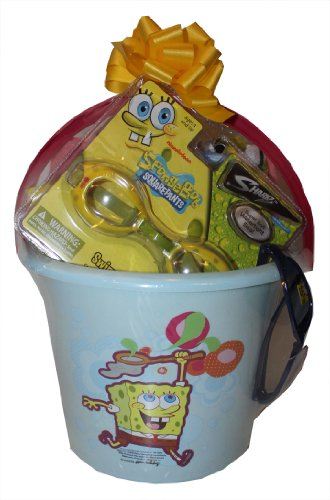 Spongebob Squarepants Ultimate Summer Fun Swim Basket - Perfect for Birthdays or Other Special Occassions