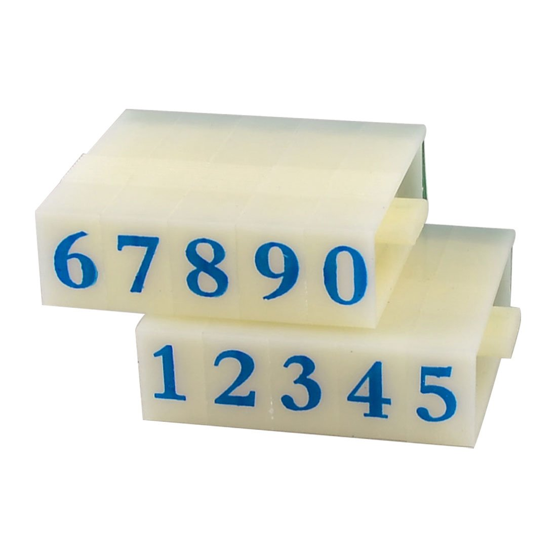 Beige alloggiamento in plastica verde gomma 0 –  9 numeri arabi cifre timbro Seal SourcingMap a13030600ux0775
