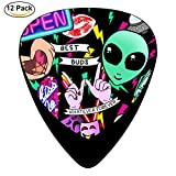paddle pic - Pic Colleague Guitar Picks 12-Pack Celluloid Paddles Plectrums 0.46mm/ 0.71mm/ 0.96mm for Print Customized Guitar Bass Musical Instruments