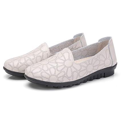 501d8a3e02f Yvelands Moda Mujer Bordado Slip-On Mocasines Zapatos Ocio Suave Zapatos de  Trabajo Zapatos
