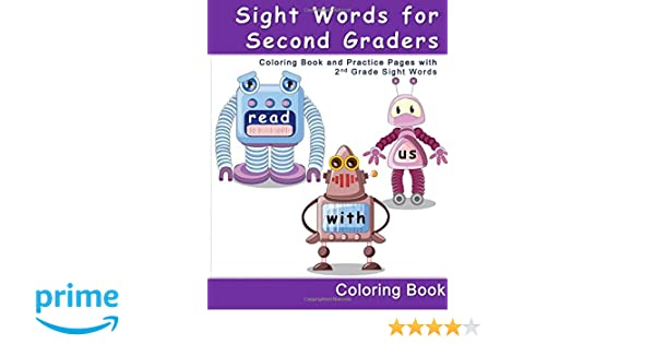 Amazon.com: Sight Words for Second Graders - Coloring Book and ...