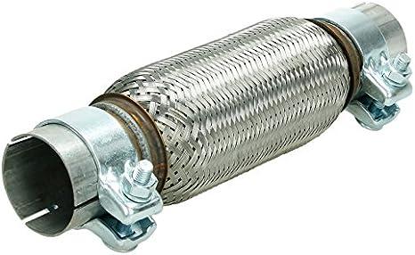 2 Schellen Universal Flexrohr Flexstück Hosenrohr Auspuff Rohr 45x200 310MM