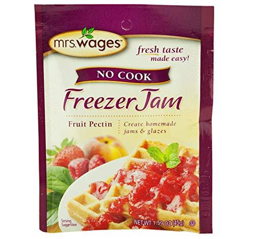 Mrs. Wages No Cook Freezer Jam Fruit Pectin- Four 1.59 oz. Packets