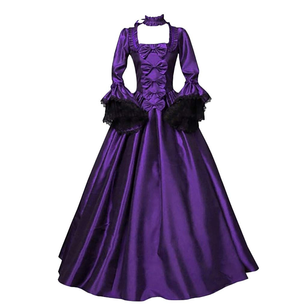 SHUSUEN Women's Prom Gothic Victorian Fancy Palace Masquerade Dresses Party Night Gown Purple by SHUSUEN