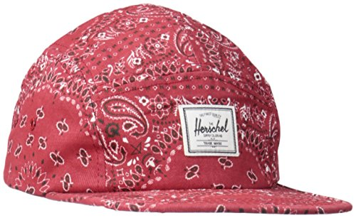 Herschel Supply Co. Men's Glendale Cap, Red Bandana, ONE Size