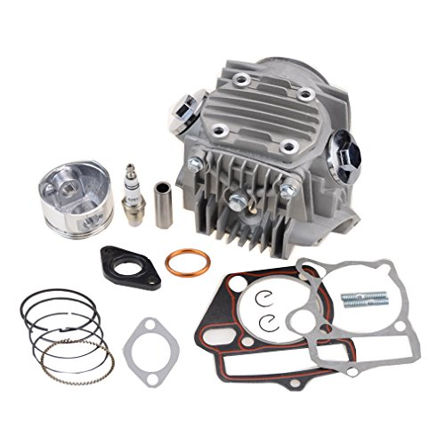 GOOFIT Cylinder Head with Piston and Gasket for 110cc ATV Scooter Dirt Bike