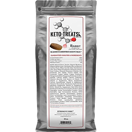 Ketogenic Pet Foods KETO-TREATS – High Protein, High Fat, Low Carb, Starch-Free Dog and Cat Treats