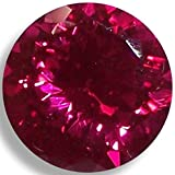 Lab Ruby Fine Red Round Brilliant Loose Unset Gem (7mm) click for more sizes