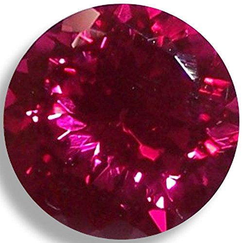Lab Ruby Fine Red Round Brilliant Loose Unset Gem (5mm) click for more (Lab Created Gems)