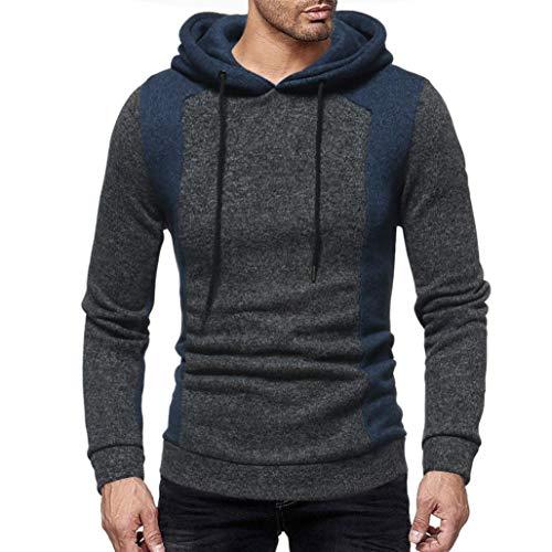 Clearance Sale! 2018 Wintialy Men's Autumn Casual Patchwork Long Sleeve Hoodie Sweatshirt Top (K-12 Gear Jumper)