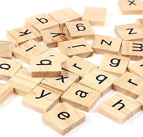 Trimming Shop Conjunto de 200 Madera Fichas de Scrabble Letras con 1 Estante Soporte Set para Tabla Juegos, Pared Decoración & Artes y Manualidades - Pack of 400: Amazon.es: Hogar