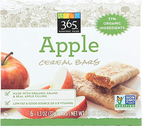 365 Everyday Value, Cereal Bars, Apple (6 - 1.3 oz bars), 7.9 oz