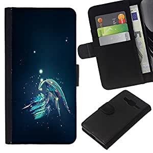 EJOY---La carpeta del tirón la caja de cuero de alta calidad de la PU Caso protector / Samsung Galaxy Core Prime / --Resumen Galaxy