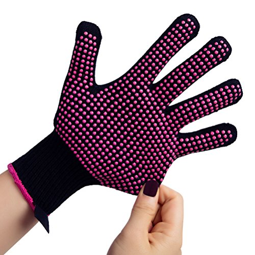 Price comparison product image 1 Pc Heat Resistant Glove for Hair Styling, Professional Skidproof Glove for Curling Wand and Flat Iron, Suitable for Left and Right Hands, Fit All Hand Sizes