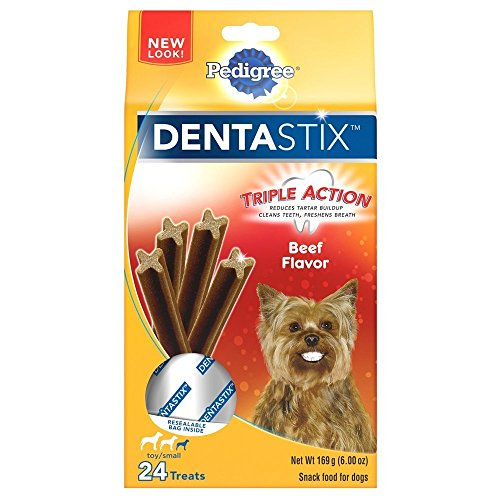 Pedigree Dentastix, Beef Flavor, for Toy/Small Dog, 24 Treats (Pack of 2) by Pedigree