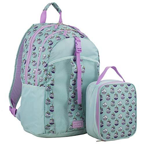Fuel Backpack & Lunch Bag Bundle, Mist Mint/Lilac/Unicorn donuts print