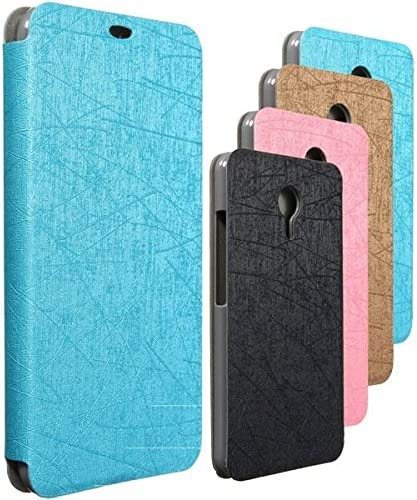 Sut El modelo de seda irregular tira el bien duradero del PC de cuero atrás caso para meizu mx5: Amazon.es: Electrónica