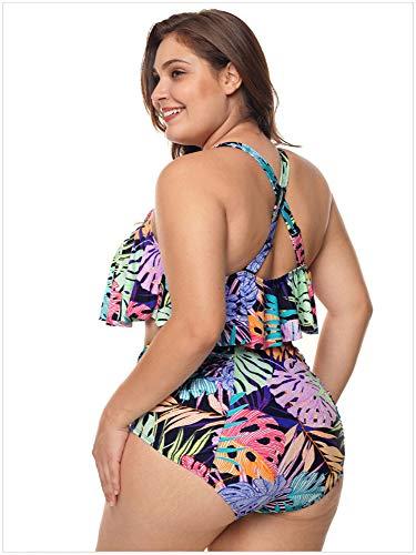 Belly Spring Flower Da xl Hot Bagno Large Amadoierly Coperta Stampa Vita Flower A Femminile Costume Size Xl Alta Divisa Swimwear Fqwggv7a
