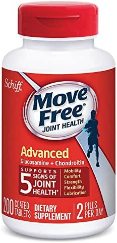Move Free Advanced, Joint Health Supplement with Glucosamine and Chondroitin (200 Count) iiiIII