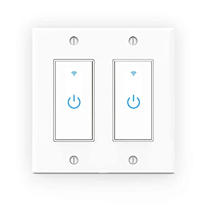 Smart Light Switch >> Wifi Light Switch Smart Wall Switch 2 Gang Touch Switch Remote
