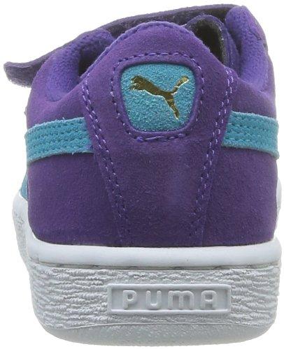 Puma Suede 2 Straps Kids - Zapatillas de Deporte de cuero Bebé - niña Morado - Violet (08)