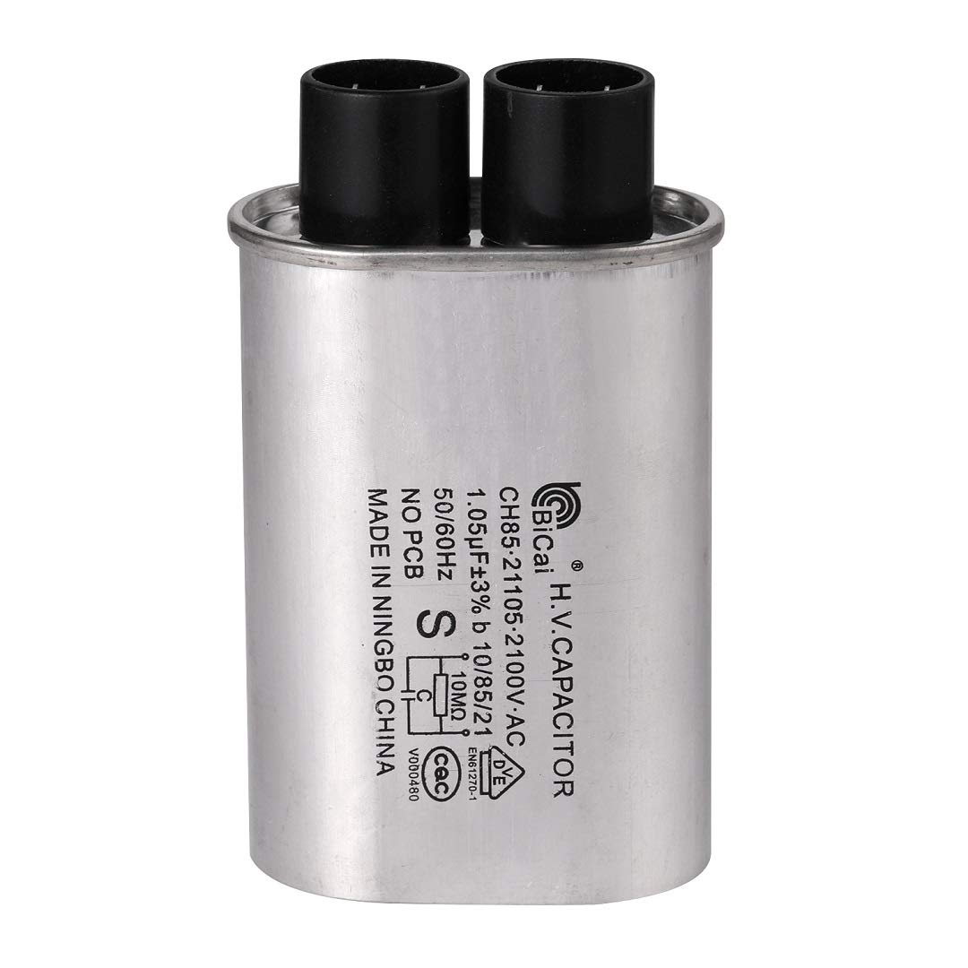 BlueCatELE 1/4 in 1.05 MFD uF Universal Microwave Capacitor Compatible for GE Samsung LG Media Hair Amana Kenmore Mayta and Whirlpool