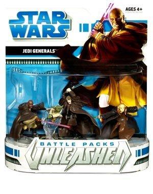 - Star Wars 2008 Unleashed Battle Pack Figure 3-Pack Jedi Generals