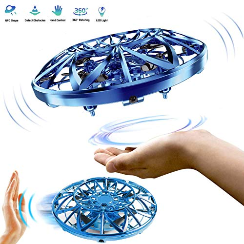 zegoal Hand Controlled Drones Scoot for Kids or Adults Hand Free Mini Flying Ball Drones Toys Indoor Infrared Induction Flying Ball for Boys and Girls (Blue) -