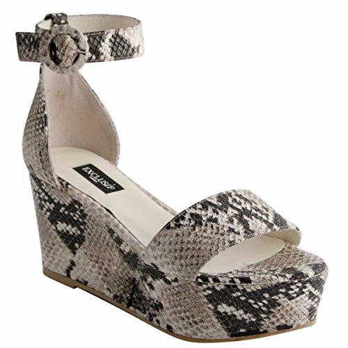 Exclusif Paris Women's Fashion Sandals Beige lyEY4L