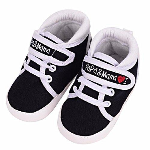 Leinwand weiche Mädchen Amison Niedlich Schuhe Säugling Baby Kind Kleinkind Schwarz Sohle Junge Sneaker C8pwRq