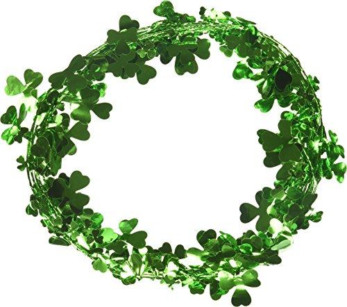 Amscan 22301 Saint Patrick's Day Shamrocks Wire Garland,