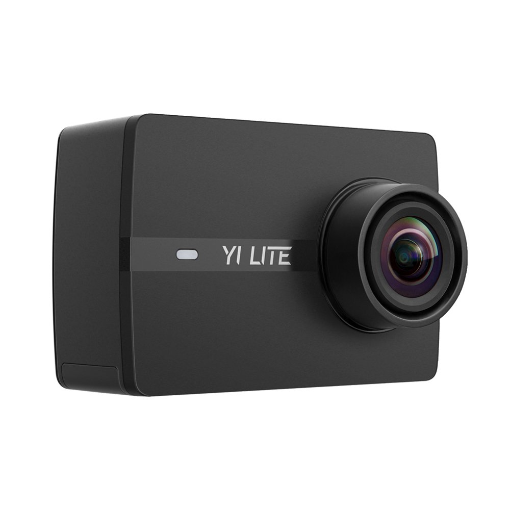 YI Lite Action Camera, Sony Sensor 16MP Real 4K Sports Camera, 2 Inch Touchscreen,150° Wide Angle Lens and EIS- Black by YI