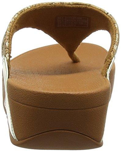 para Multicolor Cork con Punta Toe Sandalias Gold Cork Mujer Lulu Abierta Sandals Mirror 553 Fitflop Mirror Thong f7vxRqX