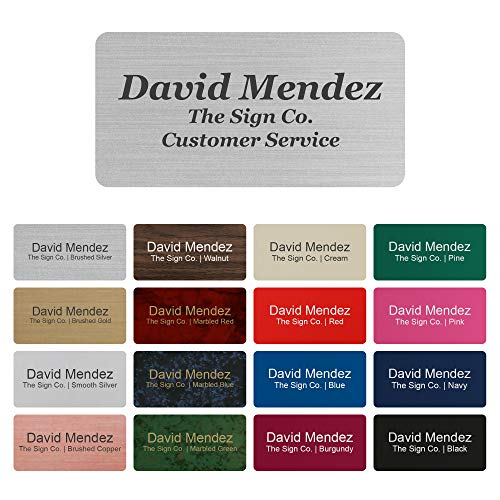 Personalized Name tag ID Badge - Trophy Picture Label with Magnetic or pin Backing. Customize - 1.5
