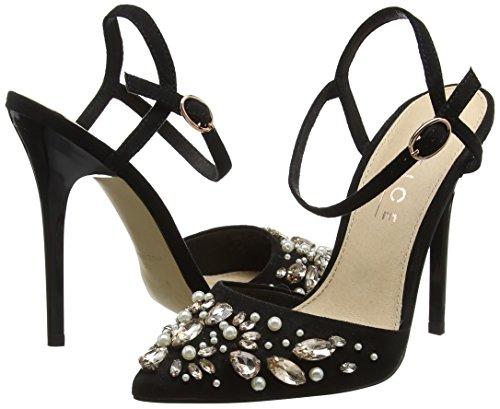 Office Donna 10000 Nero Horizon Caviglia Alla Cinturino Con Scarpe black ZPncTxZ