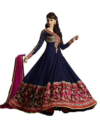 blue anarkali dress - 8