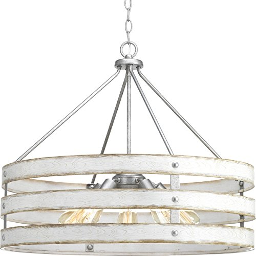 Progress Lighting P500090-141 Gulliver Five-Light Pendant, Grey