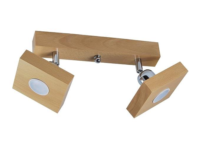 Plafoniere Per Tetto In Legno : Plafoniera spot a soffitto led illuminazione in legno