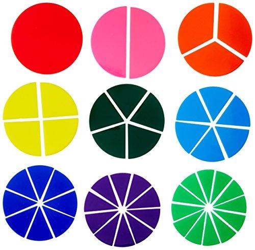 School Smart Fraction Circles - Set of 51 - Assorted Colors