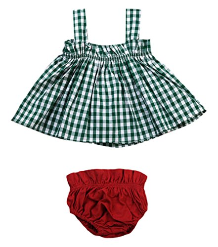 l Checkered Strap Mini Sundress with Bloomers Set (100/18-24 Months) (Short Sleeve Bloomers)