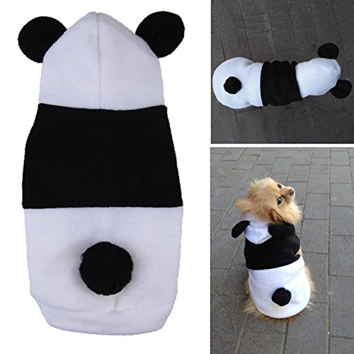 Yosoo Pet Dog Clothes For Dogs Pets Hoodies Cat Sweater Costume Clothing Fleece Panda Ear Hoody Clothes Pullover Coat Costume Cosplay (S)
