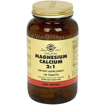 Chelated Magnesium Calcium 2:1, 180 Tablets, Solgar