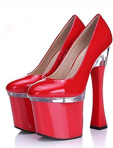 5 cn42 Patentado 8 Plataforma Zapatos de us9 Blanco us9 Tacones Boda red 5 10 Cuero Noche y eu41 10 Tac¨®n Tacones Negro cn40 ZQ 5 red uk6 Robusto us8 5 red eu39 5 mujer Fiesta uk7 Rojo Vestido eu41 uk7 RFWY64w4q