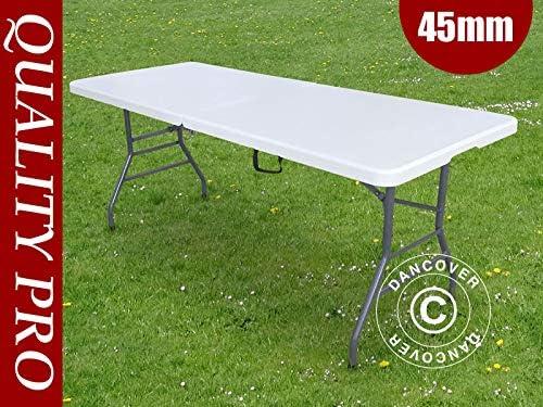 Dancover Table Pliante Pro 182x74x74cm Gris Clair 1 Pièce