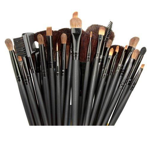Etree 32 PCS Professional Beauty Косметические кисти для макияжа Набор Комплект с сумкой Black