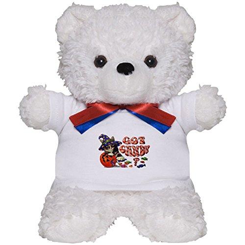 Teddy Bear White Halloween Got Candy Kitten Pumpkin ()