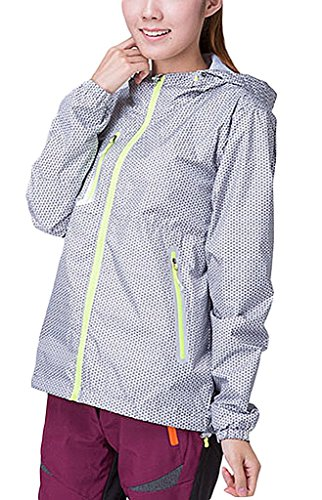 Hotly Couples Womens Waterproof Windproof Mountain Thin Sport Jacket(Grey,US S/Asian S)