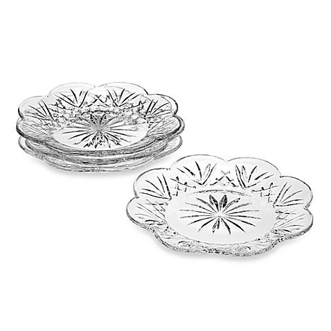 Godinger Silver Dublin 5-Inch Canape Plates, Set of 4