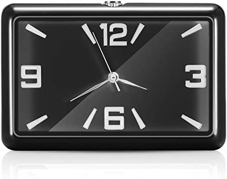 Sunsbell Auto Armaturenbrett Uhr Auto Uhren Quarzuhr Schöne Auto Dekoration Uhr Ornamente Auto Interieur Uhr Schwarz Auto