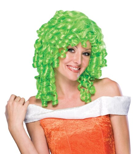 Green Clown Wig - Rubie's Curly Top Wig, Green, One